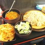 ゆで太郎 - カレー丼セットとかき揚げ