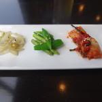 28454885 - 彩り野菜のサムギョプサル定食の前菜その1