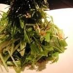 韓二郎 - 水菜と揚げジャコのハリハリサラダ