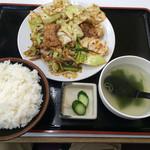 ラーメンとん太 - 回鍋肉定食 800円(税抜)