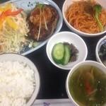 kokochi ダイニング 風琉里(ふるさと) - 日替りランチ一例(豆腐ハンバーグ)