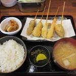 満マル - 串揚げ定食