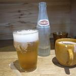 オー ライフ - 梅ソーダ450円穀物コーヒー400円