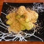 中華料理 頤和園 - 金沙鮮●(●は、漢字に表示出来ませんでした。エリンギ茸のフリッター 香港パウダー仕立て 580円)