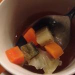 ジムノペティ - スープの野菜