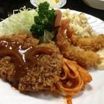 ぱいち - Bランチ(メンチ+海老フライ)1100円
