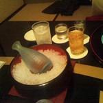 日本料理 きたがわ - 酒は冷えてます。