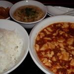 天山 - 平日ランチの麻婆豆腐780円