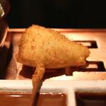 六波羅 - 茗荷の豚肉巻 (辛子ソースで) (2014/06)
