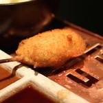 六波羅 - ピーマンの肉詰め (辛子ソースで) (2014/06)