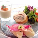 Mar Rosso - 前菜の帆立と紅芯大根のカルパッチョ