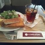 コラソンカフェ - 朝食のセットをいただきました。