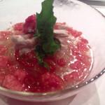KAYA - 蒸し鶏とフルーツトマトの冷麺 2014.6撮影
