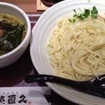 麺処 直久 - 鶏×秋刀魚つけ麺780円