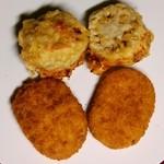 惣菜なかふじ - レンコンはさみ揚げ、コロッケ