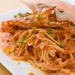 ブリック - 渡り蟹のトマトクリームパスタ