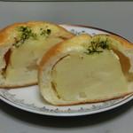 パンのくっくう - じゃがいもパン カット