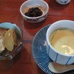 味のあなば - 「あなば」のとり天定食 茶碗蒸しには牡蠣が入ってました! 大根と厚揚げの煮つけも美味しいです!