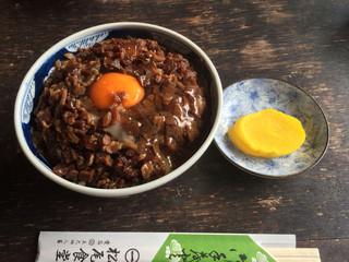 松尾食堂 - 肉丼 玉子入 900円