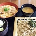 仁乃房 - ランチ 蕎麦&カツ丼セット