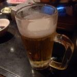 北海道しゃぶしゃぶ ポッケ - ビール 少し飲んじゃった てへっ