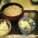 うち田 - お昼の定食のそば