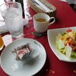 28501730 - サービスデザートとサラダ、スープ