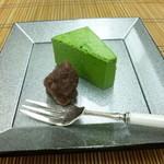 和 吉野 - 2014.06 デザート:抹茶ムース、小豆