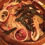 ROTORO - タラコなす焼きイカパスタ。最近のお気に入りです^_^でも、お引越ししたらなかなか食べに来れないかな、、?