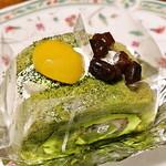 KATASHIMA - 緑茶と黒豆餡のロールケーキ 380円