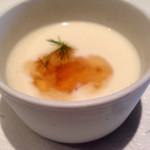 ノナカ - 冷製新玉ねぎのポタージュ&コンソメのジュレ様!!優しい甘味が素晴らしい!