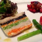 ノナカ - お野菜のテリーヌ&自家製イタリアンレタス様はテリーヌ様にお米とはお珍しい♪