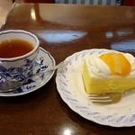 梅月堂カフェ - 紅茶とシースクリーム