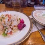 ゴールド - 1)クリームシチュー+バターライス(1,000円)