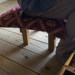 ろばたやき山ろく - 足の悪い母用に出してもらった座椅子