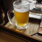 ろばたやき山ろく - 母用の生ビール