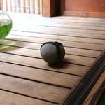 手打ち蕎麦 かね井 - 止め石 ですね (2014/06)