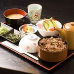 千里庵 - 近江牛肉ひつまぶし膳1850円