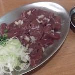 山喜多 - ・レバ刺(豚) 480円