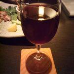 彩季・創作厨 Azu - 2014.6. 赤ワイングラス(\400) 冷え冷え