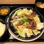北海道魚鮮水産 - ジンギスカン定食(2014/06/26撮影)