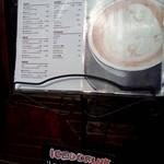anthrop.Espresso&Comfort - 外のメニュー看板