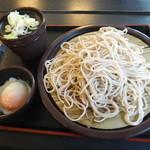 ゆで太郎 - 料理写真:もりそばと温泉卵