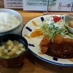 ごはん屋さん - ポークカツランチ ご飯大 870円