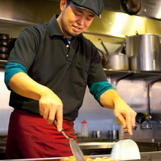 料理長の美味しさへのこだわりが、オリジナル料理を考案