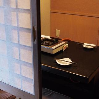 完全個室は2~4名様まで可能です。