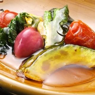 糸島から仕入れる新鮮な採れたて食材☆