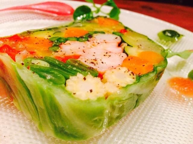 chez le mak - オマール海老と野菜のテリーヌ