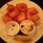 28535201 - 小海老のフライが7個!『レモン』『塩』『タルタルソース』で食べる~♪(^o^)丿