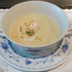 28536992 - スープ、季節により栗のポタージュだった日